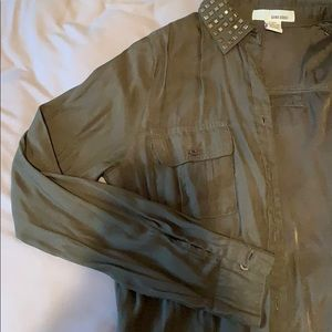 Army Green Button Up Cardigan